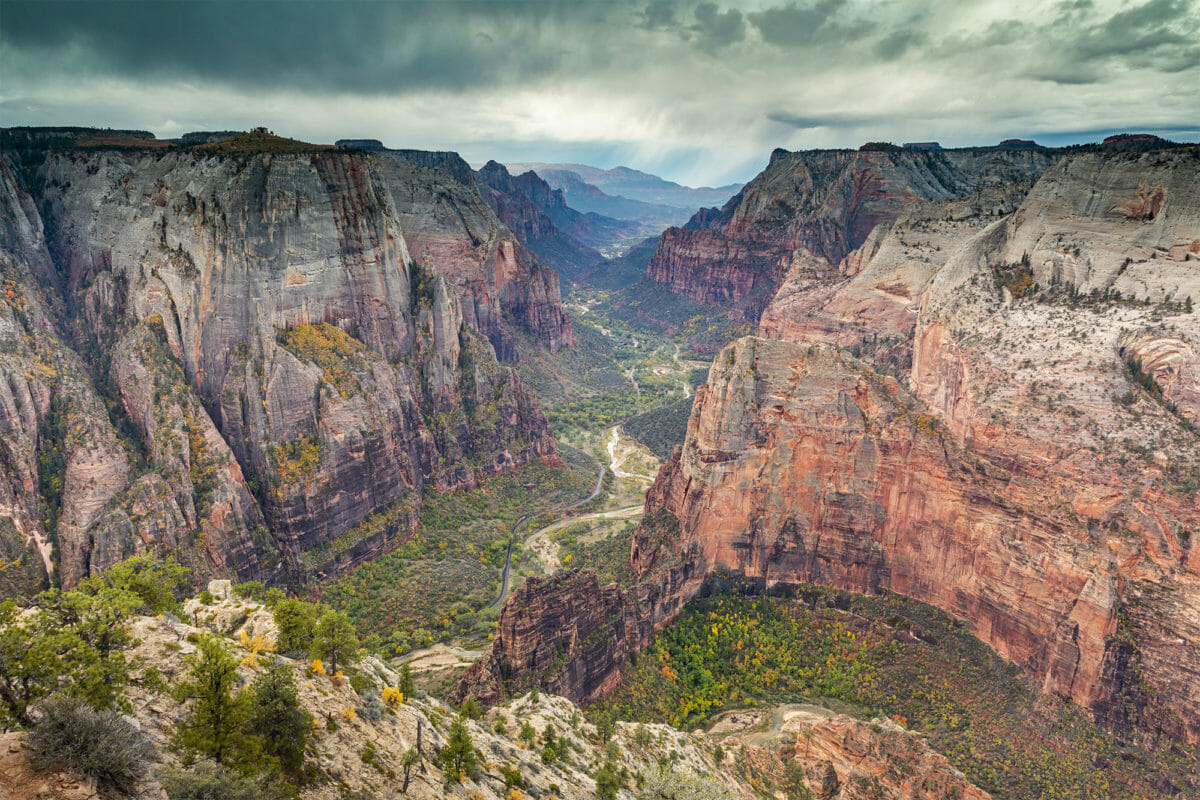 View of Zion Canyon from Observation Point