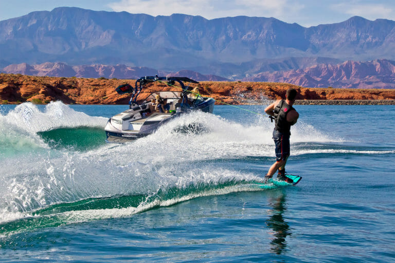 Wakeboarder at Sand Hollow State Park