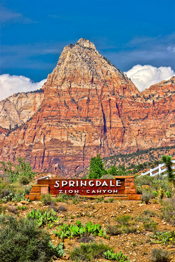 Entrance Sign to Springdale