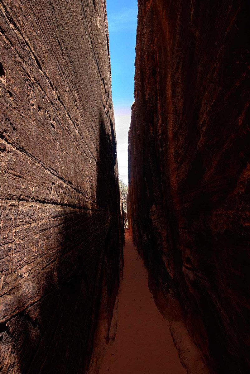 Tight slot canyon