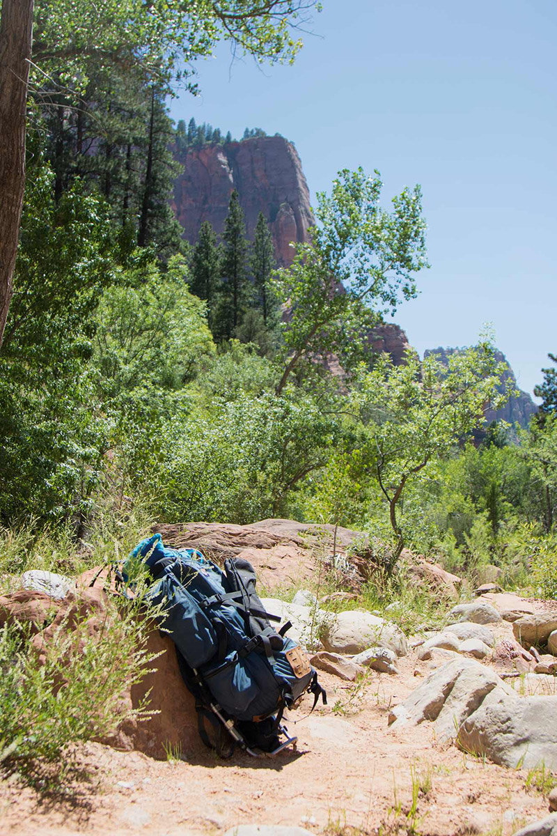 Backpack on Trail
