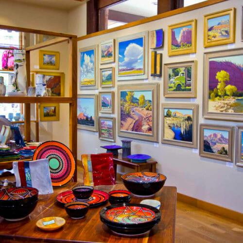 Innenraum einer Kunstgalerie