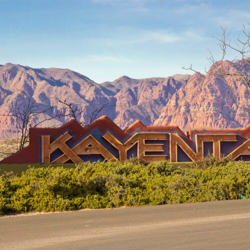 Kayenta Art Village entrance sign