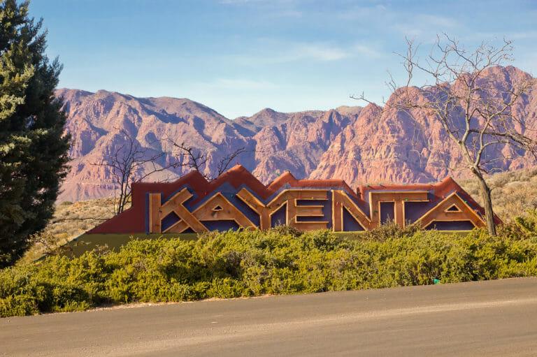 Kayenta Art Village entrance sign