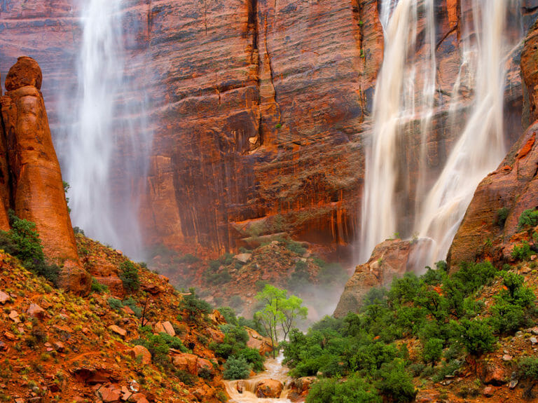 Waterfalls in Zion National Park