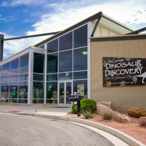 約翰遜農場的恐龍發現場-猶他州聖喬治的恐龍博物館