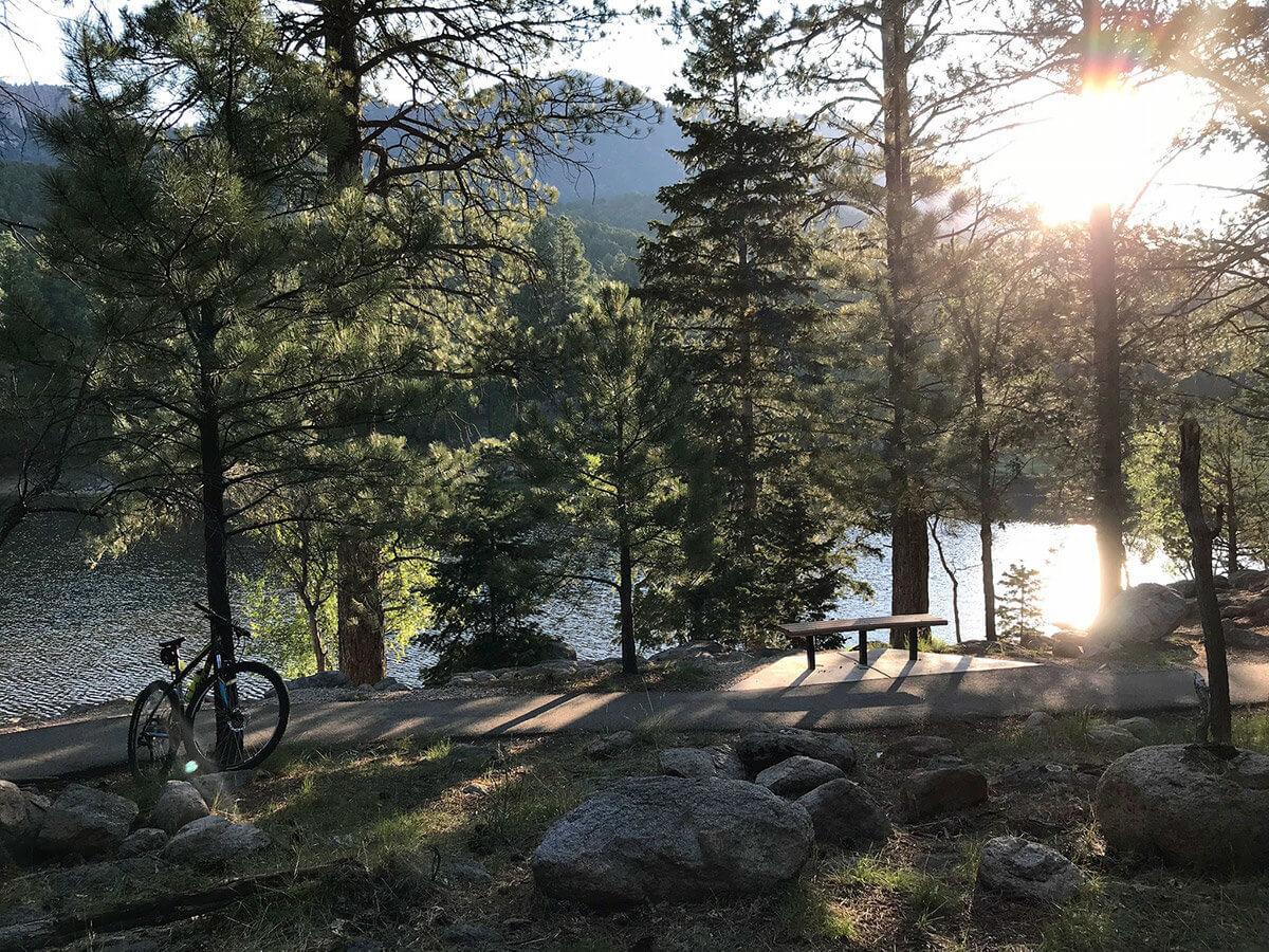 Lakeside mountain path