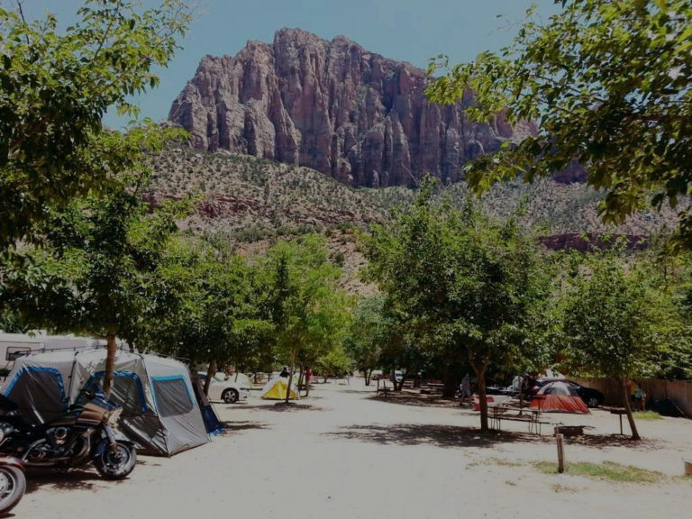 Zion Canyon Campground Camp Pic