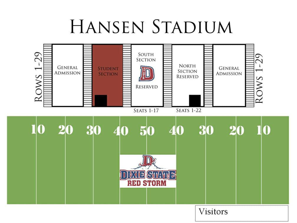 Visual seating chart for football stadium