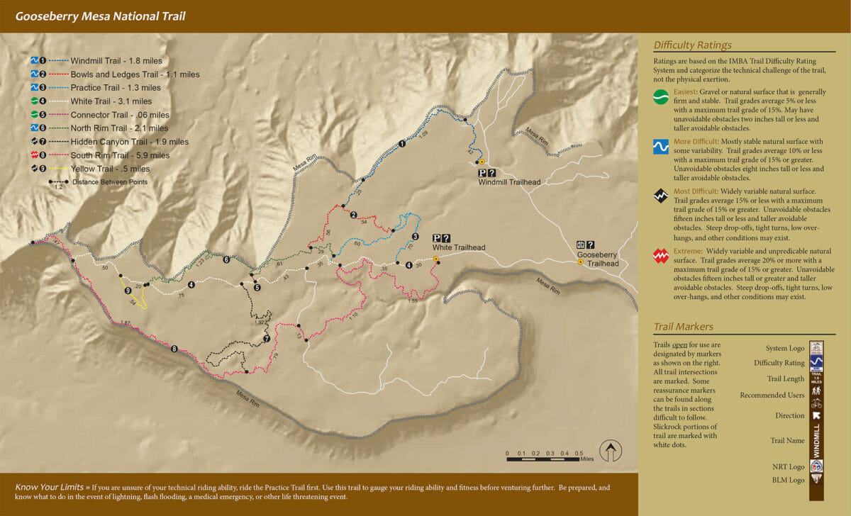 Map of Gooseberry Mesa