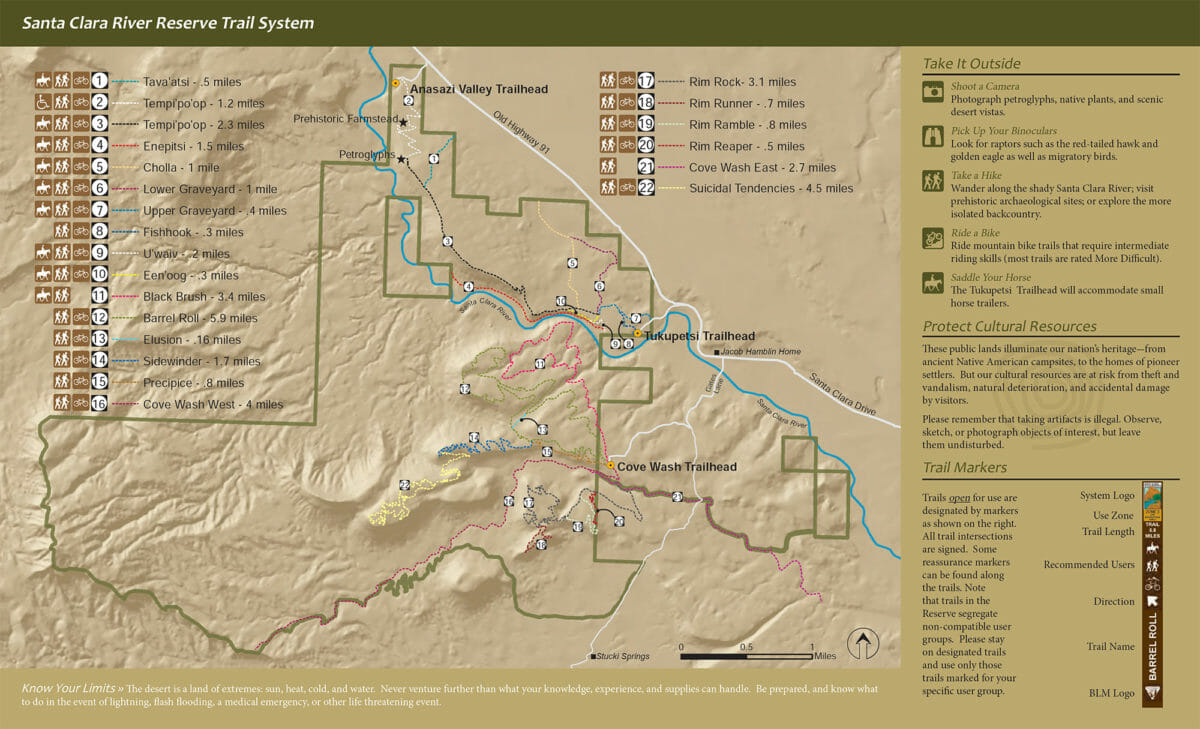 Map of Santa Clara River Reserve