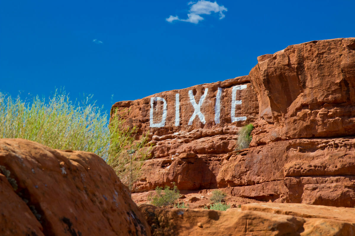 Dixie Rock at Pioneer Park in St. George, Utah