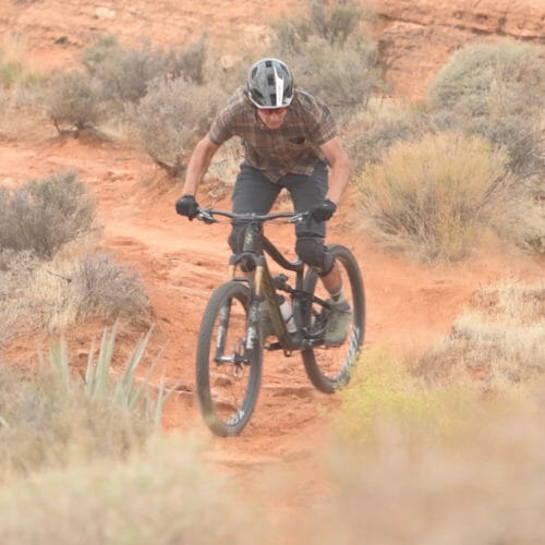 Mountainbike-Mann
