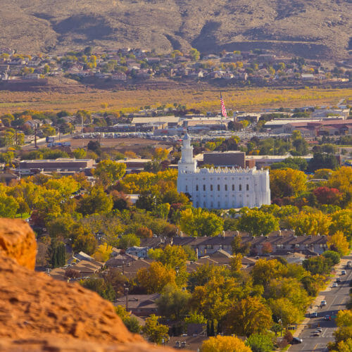View of the St. George LDS Temple from Pioneer Park