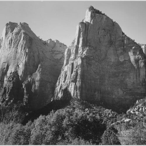 Court of the Patriarchs, Ansel Adams