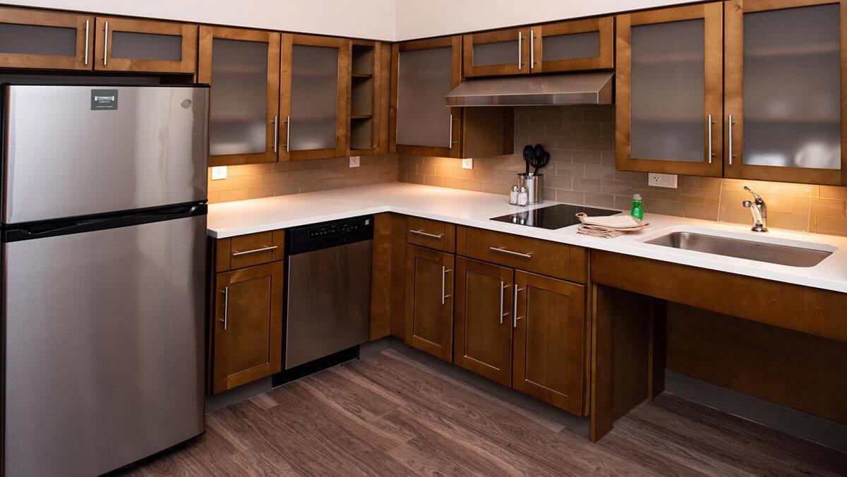Kitchen in hotel suite