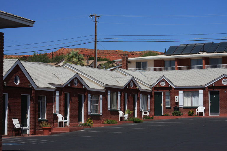 Red brick motel