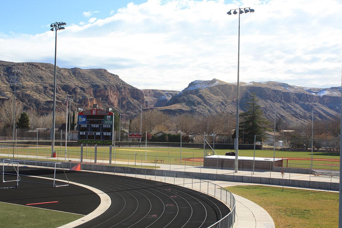 High school stadium and fields