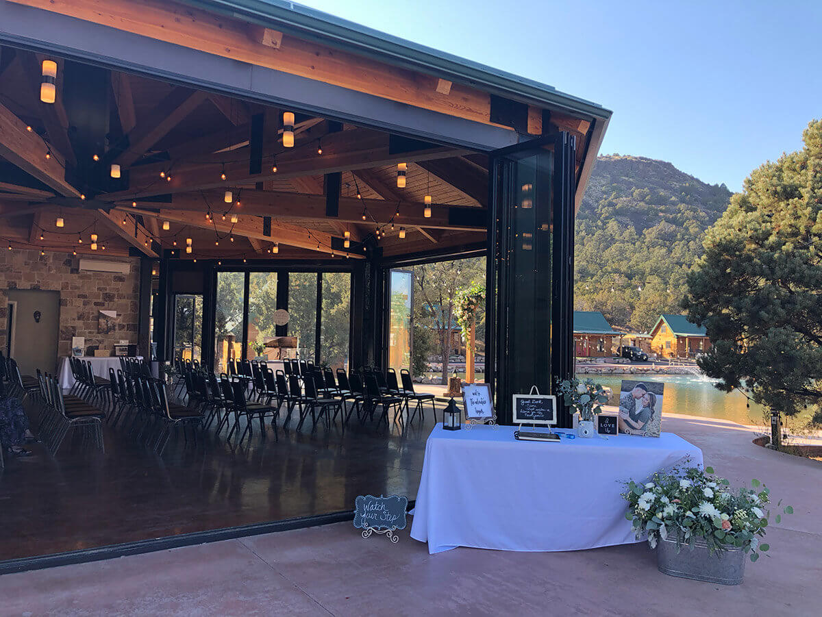 Indoor/outdoor wedding