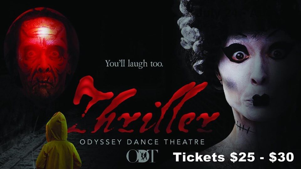 Poster for theatrical performance of show titled Thriller
