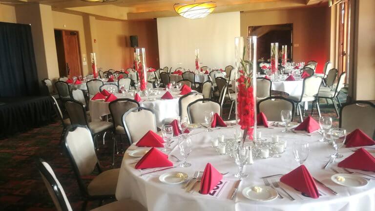 Banquet setup in hotel