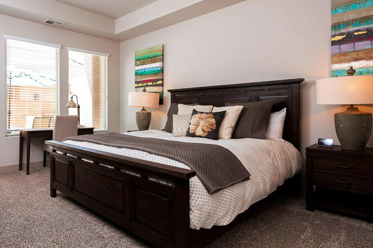 Bedroom with large bed