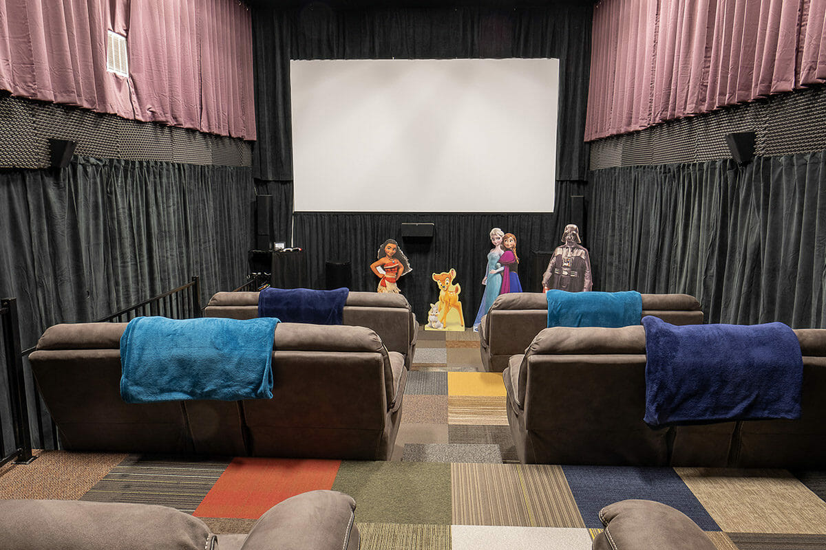 Private movie theater