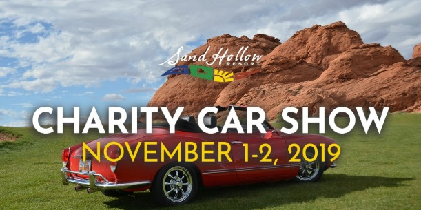 Poster: Charity Car Show - November 1-2, 2019 - Sand Hollow Resort