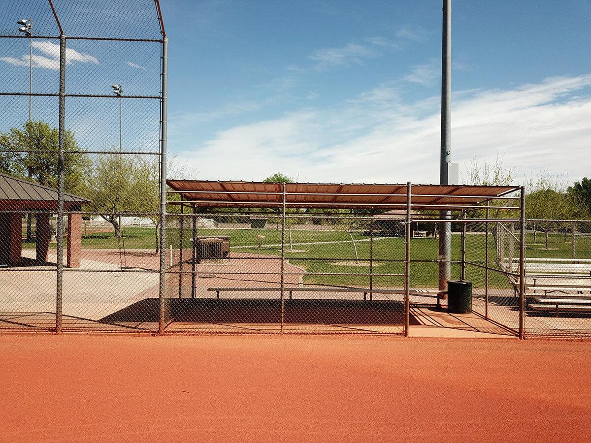 Baseball field backstop