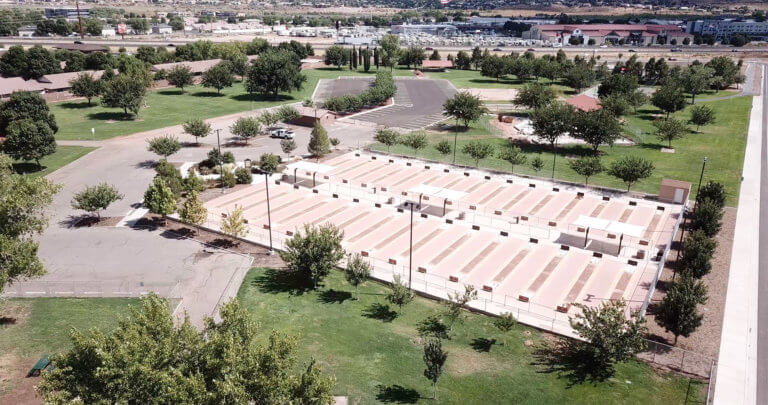 Aerial view of horseshoe complex