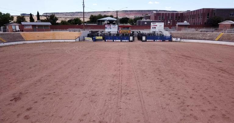 Blick aus der Rodeo-Arena