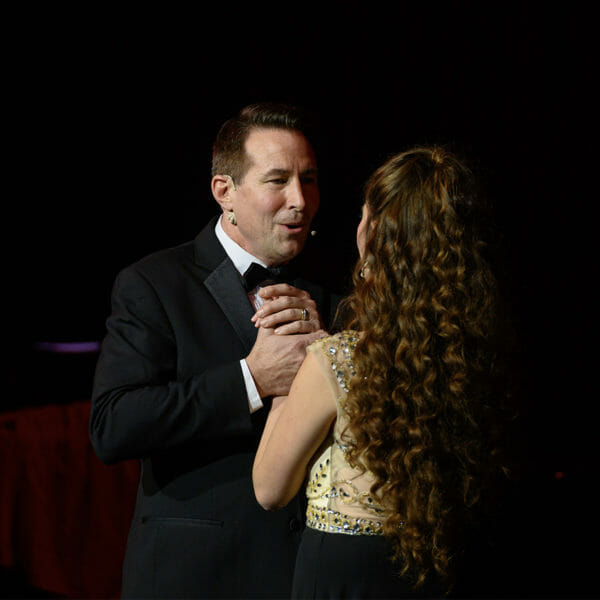 Man and Woman singing together