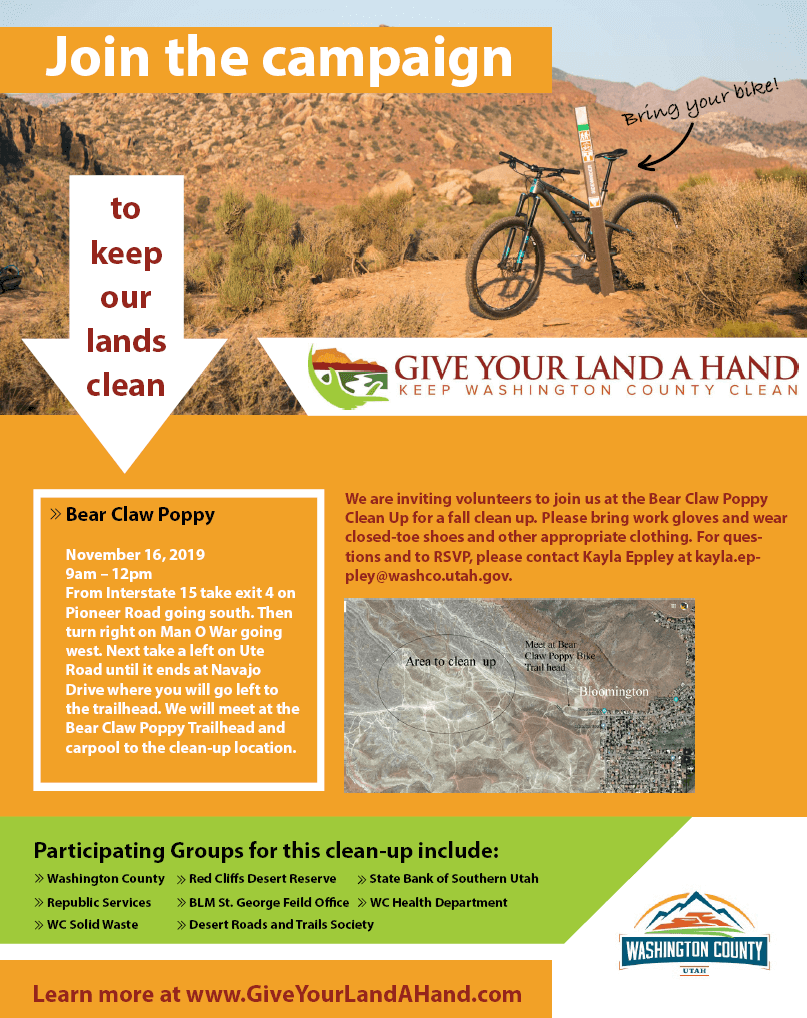 Poster: Give Your Land a Hand - Join the campaign to keep our lands clean