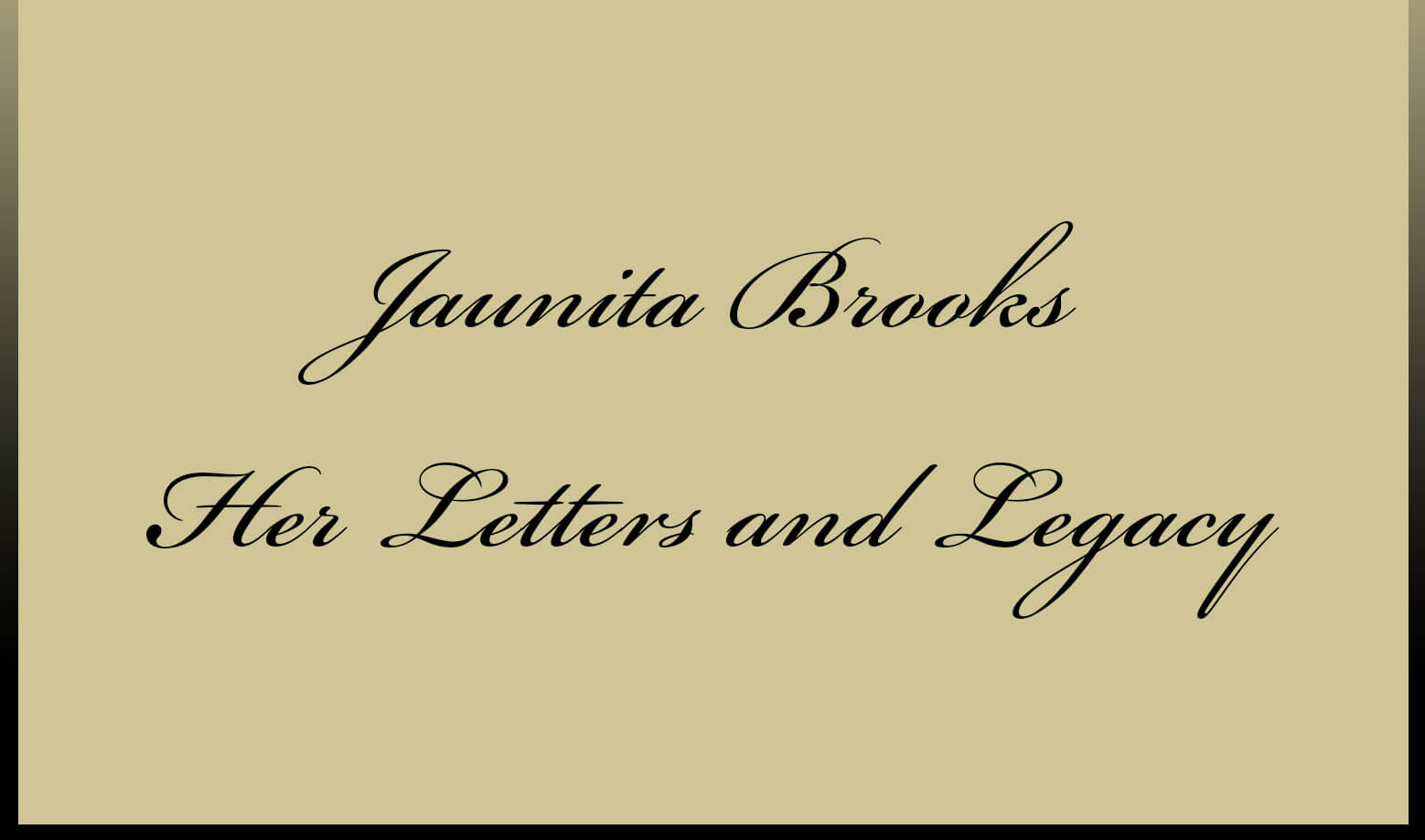 Poster: Juanita Brooks - Her Letters and Legacy