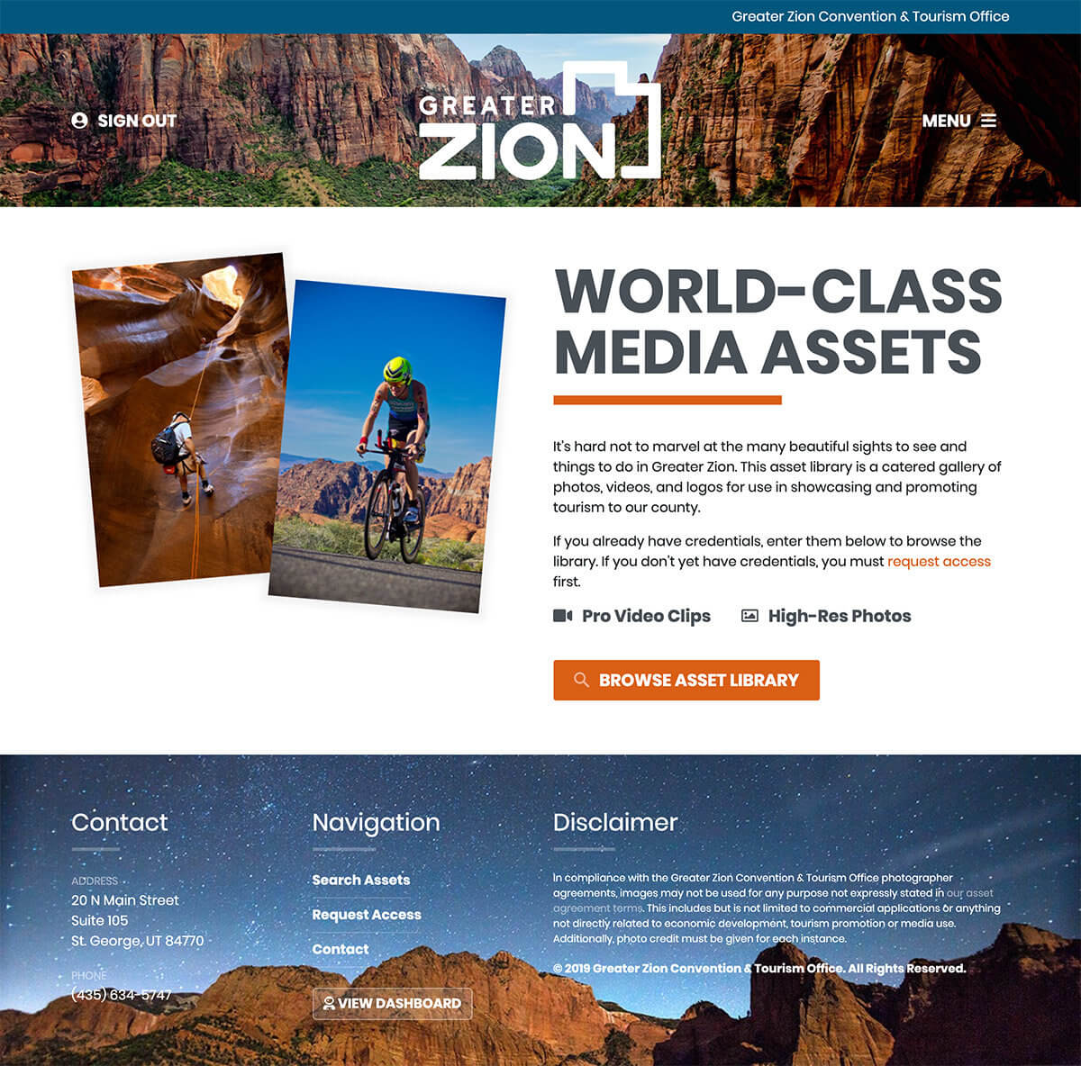Screenshot ab Greater Media Asset Library of Zion
