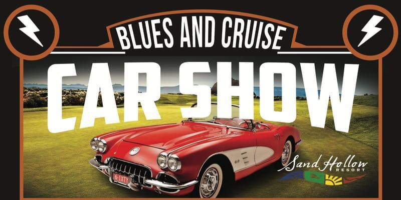 Poster: Blues and Cruise Car Show at Sand Hollow Resort