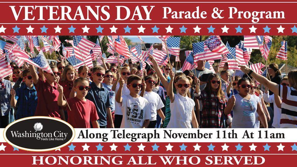 Poster: Veteran's Day Parade & Program - Washington City