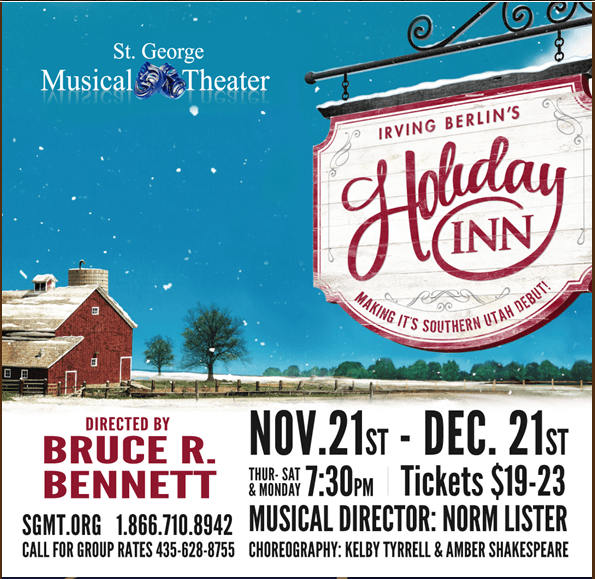 Theatrical Poster: Irving Berlin's Holiday Inn - St. George Musical Theater