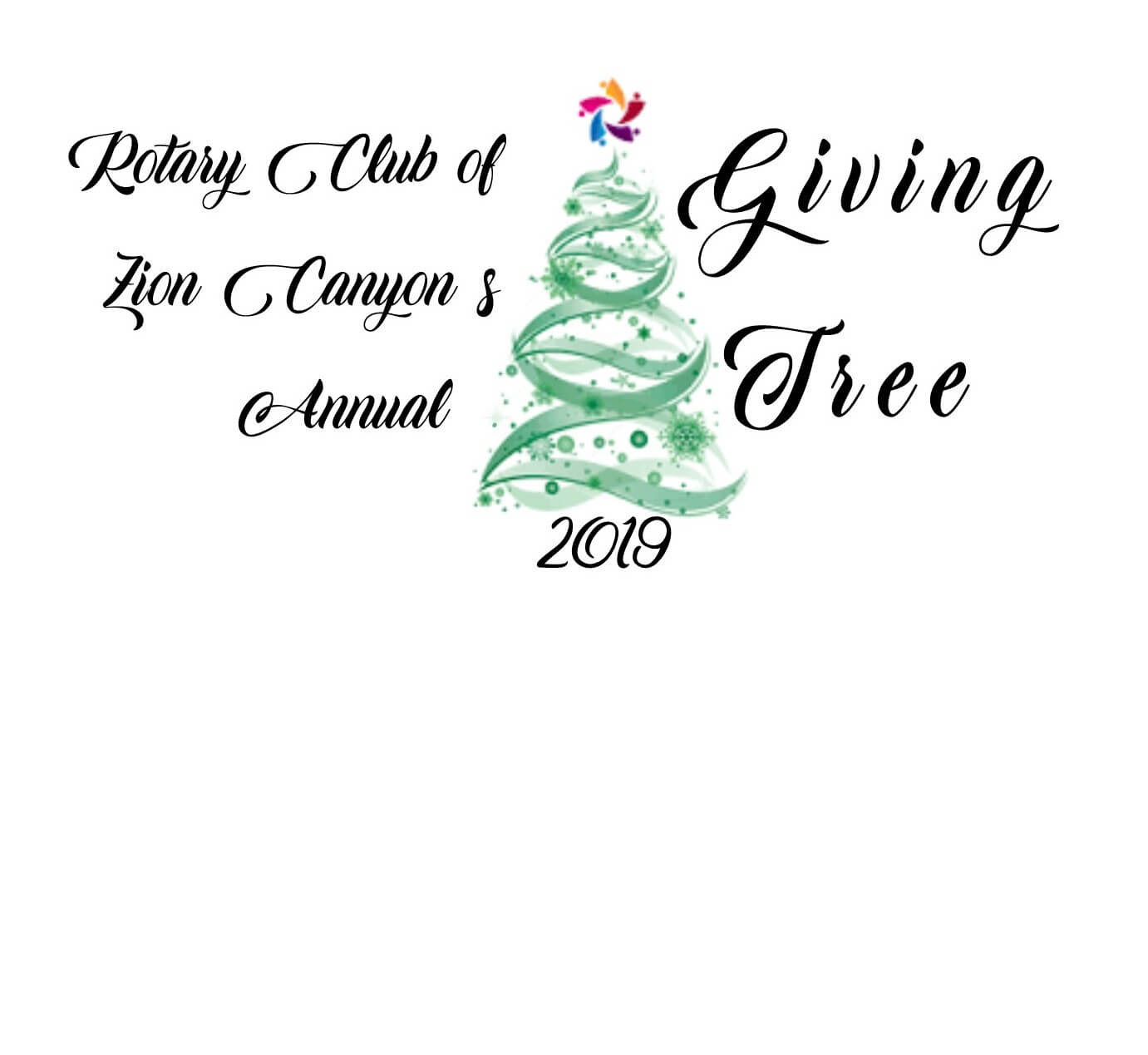 Poster: Rotary Club of Zion Canyon's Annual Giving Tree 2019