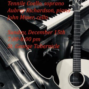 Flyer for Dec. 15th Tabernacle performance