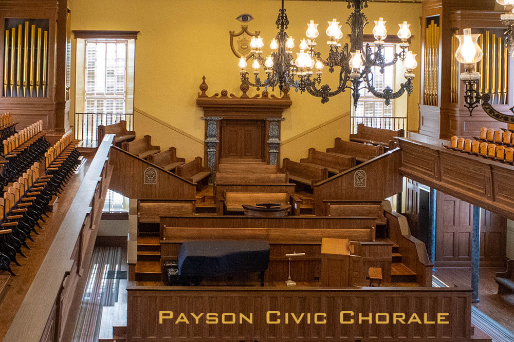 Poster: Payson Civic Chorale - St. George Tabernacle
