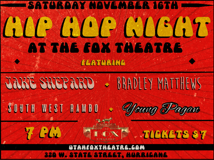 Poster: Hip Hop Night at the Fox Theatre