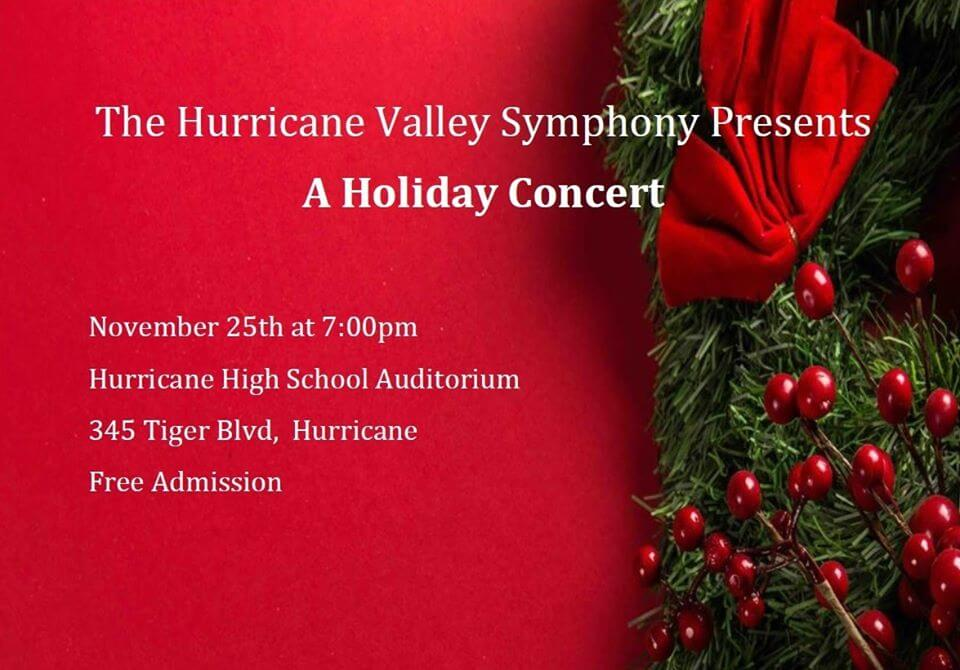 Theatrical Poster: A Holiday Concert - Hurricane Valley Symphony