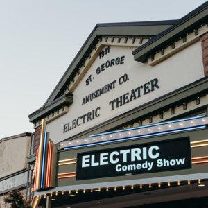 elektrisk komedie aften