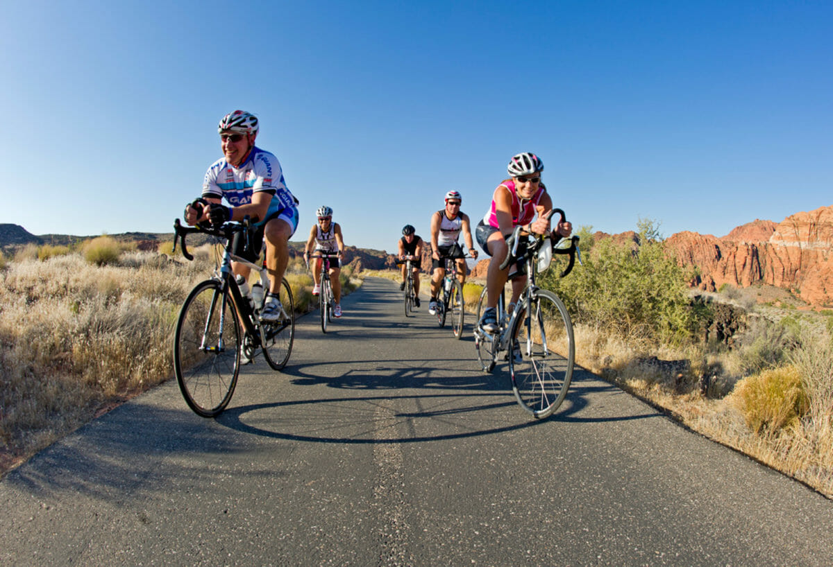Group of smiling cyclists