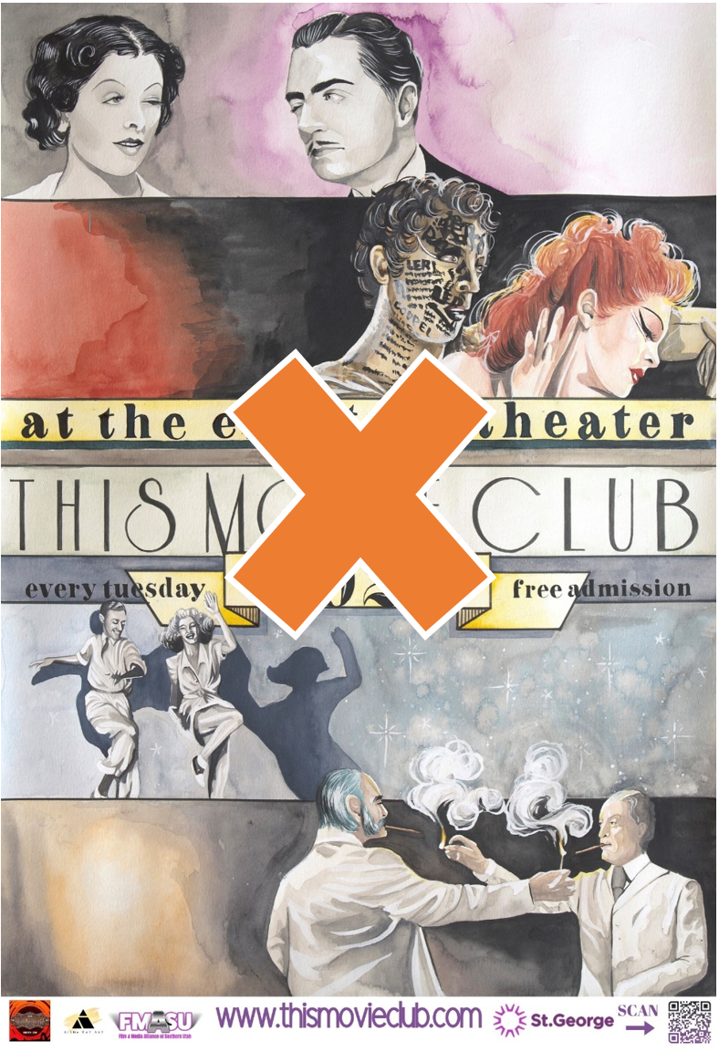 movie poster with canceled x