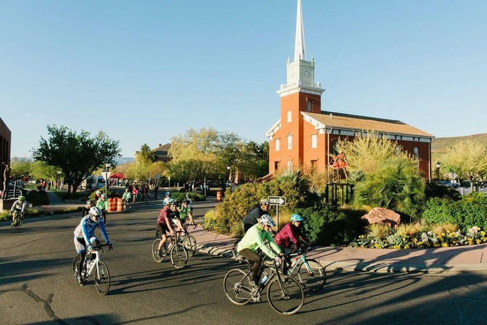 people bicycling around street