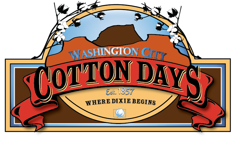 Washington city cotton days logo