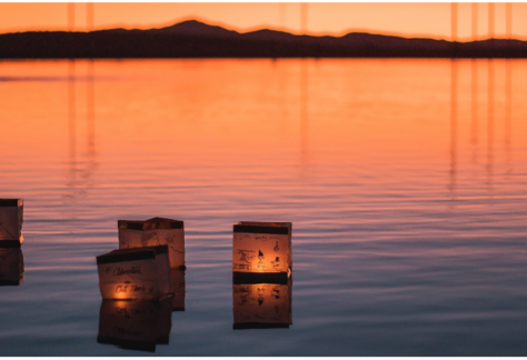 Lantern on water