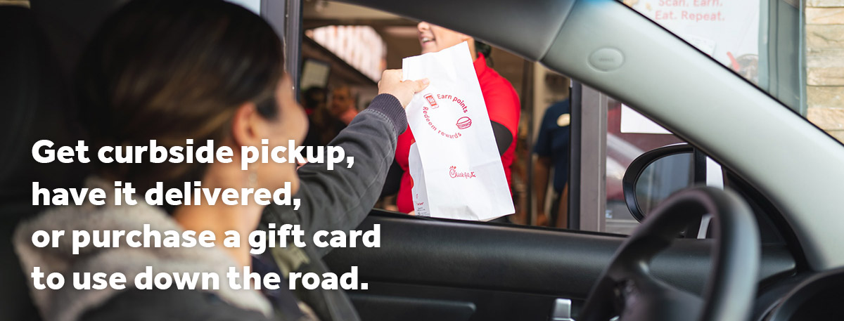 Banner: Get curbside pickup, have it delivered, or purchase a gift card to use down the road.